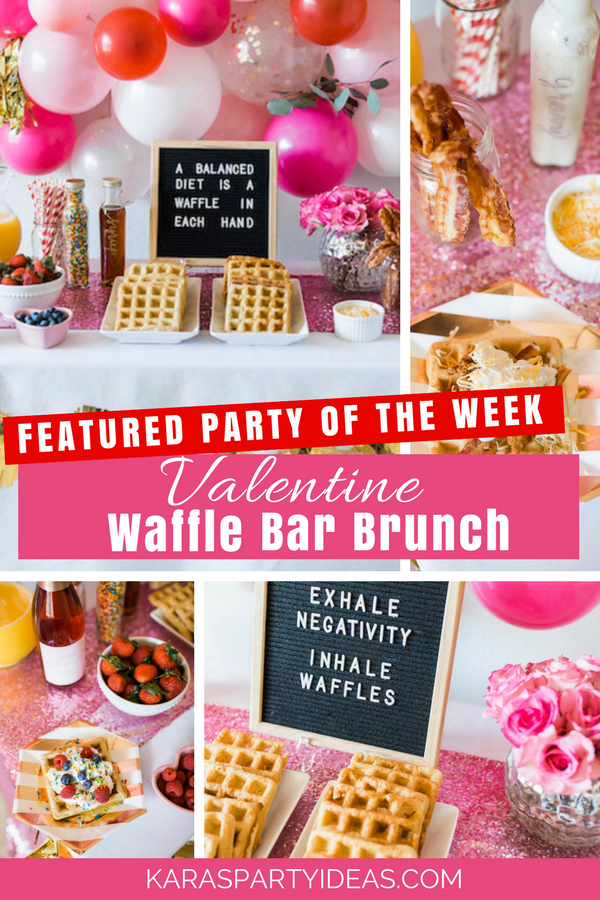 FEATURED PARTY OF THE WEEK Valentine Bar Brunch via Kara's Party Ideas - KarasPartyIdeas.com