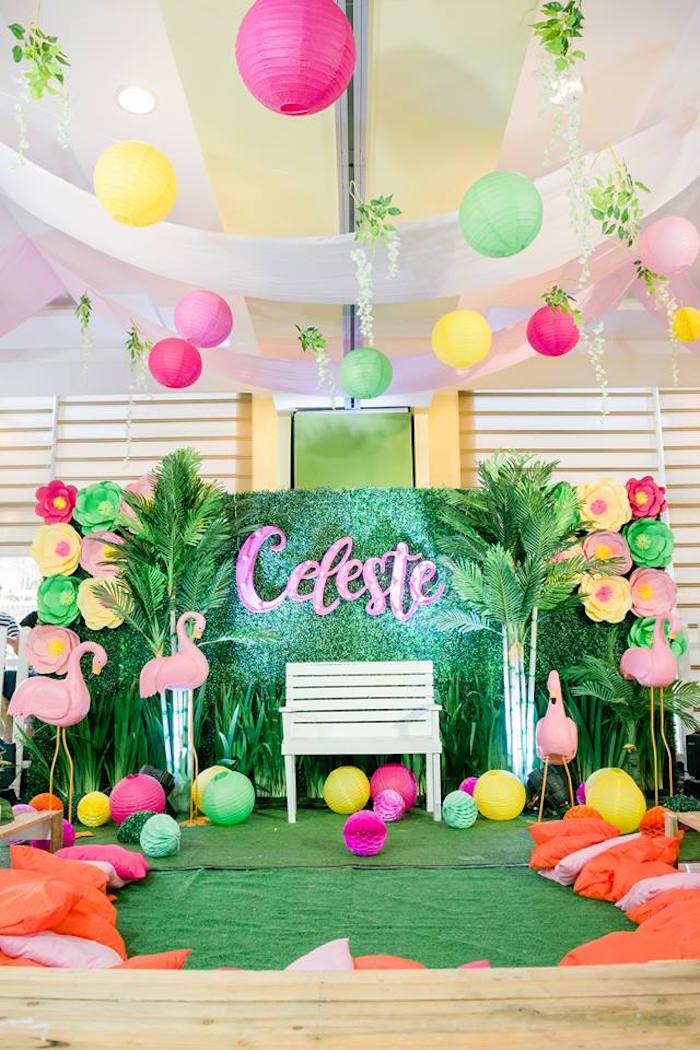Kara's Party Ideas Fabulous Flamingo Birthday Party