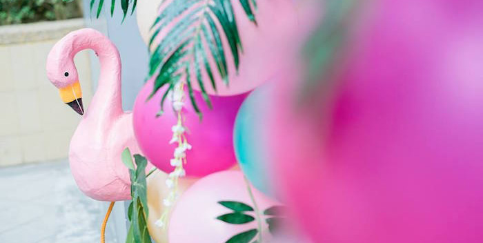 Fabulous Flamingo Birthday Party on Kara's Party Ideas | KarasPartyIdeas.com (3)