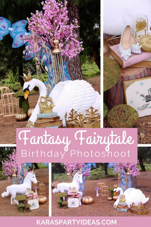 Fantasy Fairytale Birthday Photoshoot via Kara's Party Ideas - KarasPartyIdeas.com