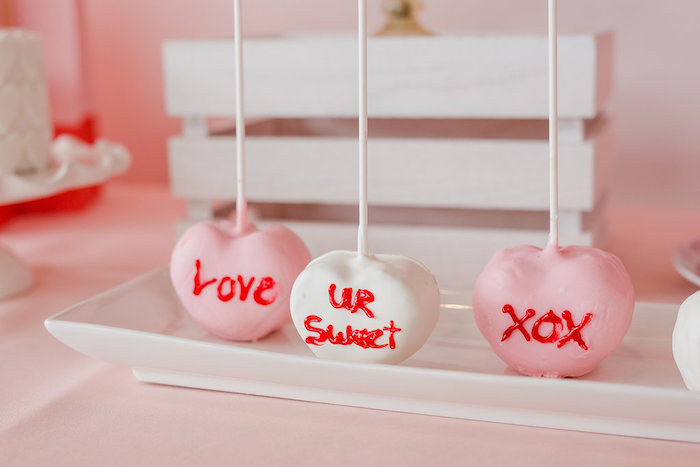 Valentine's Day Heart Cake Pops from a Galentine's Day Valentine Brunch on Kara's Party Ideas | KarasPartyIdeas.com (22)