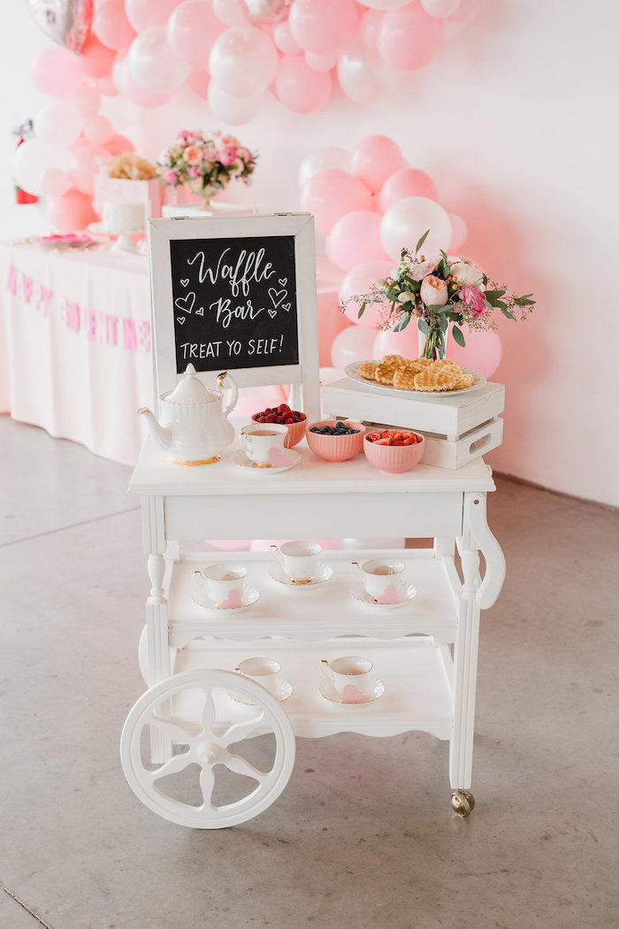 Valentine's Day Waffle Bar from a Galentine's Day Valentine Brunch on Kara's Party Ideas | KarasPartyIdeas.com (21)