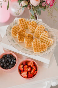Heart Waffles from a Galentine's Day Valentine Brunch on Kara's Party Ideas | KarasPartyIdeas.com (18)