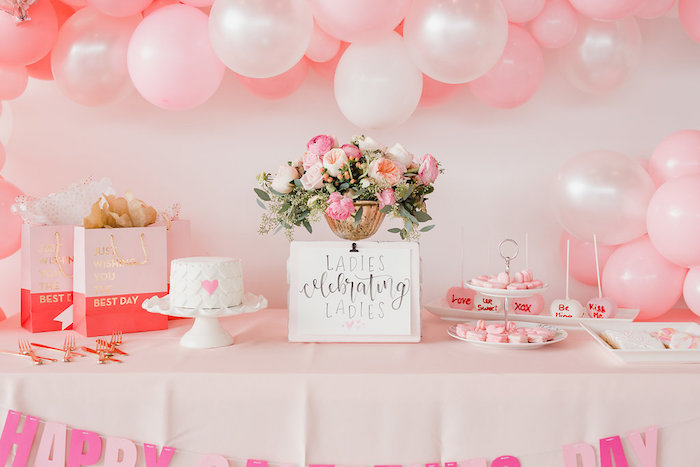 Valentine's Day Dessert Table from a Galentine's Day Valentine Brunch on Kara's Party Ideas | KarasPartyIdeas.com (15)