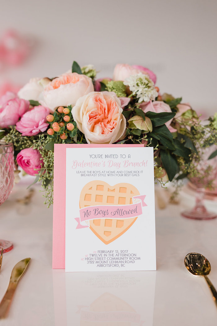 Valentine's Brunch Party Invite from a Galentine's Day Valentine Brunch on Kara's Party Ideas | KarasPartyIdeas.com (31)
