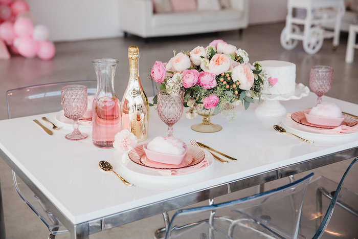 Valentine's Day Brunch Table from a Galentine's Day Valentine Brunch on Kara's Party Ideas | KarasPartyIdeas.com (11)