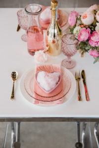 Valentine's Day Table Setting from a Galentine's Day Valentine Brunch on Kara's Party Ideas   KarasPartyIdeas.com (10)