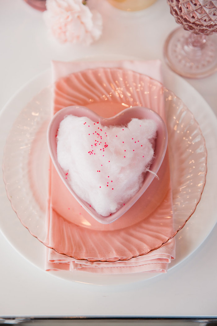 Valentine's Day Table Setting from a Galentine's Day Valentine Brunch on Kara's Party Ideas | KarasPartyIdeas.com (9)