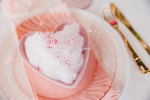 Sprinkled Cotton Candy Heart Place Setting from a Galentine's Day Valentine Brunch on Kara's Party Ideas | KarasPartyIdeas.com (8)