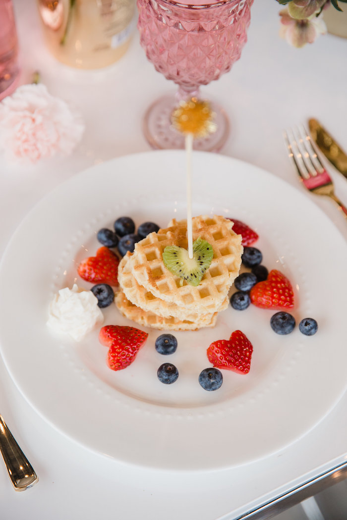 Valentine's Day Waffles from a Galentine's Day Valentine Brunch on Kara's Party Ideas | KarasPartyIdeas.com (6)