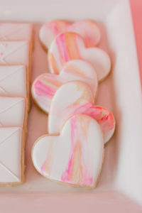 Watercolor Heart Cookies from a Galentine's Day Valentine Brunch on Kara's Party Ideas | KarasPartyIdeas.com (27)