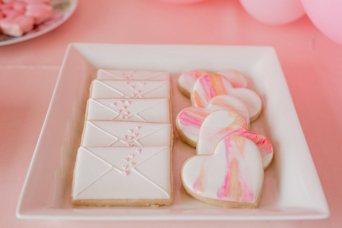 Kara\'s Party Ideas Valentine\'s Day Cookies from a Galentine\'s Day ...