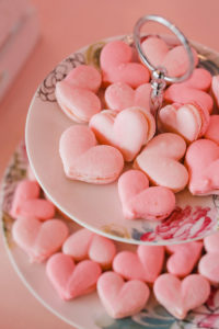 Pink Heart Macarons from a Galentine's Day Valentine Brunch on Kara's Party Ideas   KarasPartyIdeas.com (23)