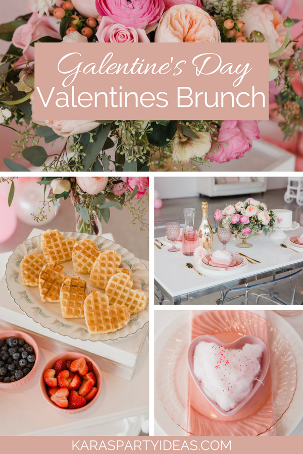 Galentine's Day Valentines Brunch via Kara's Party Ideas - KarasPartyIdeas.com