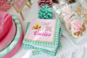 Camp Fire Cuties Napkins from a Girly Woodland Glamping Party on Kara's Party Ideas | KarasPartyIdeas.com (18)