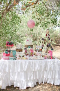 Dessert Table from a Girly Woodland Glamping Party on Kara's Party Ideas | KarasPartyIdeas.com (17)