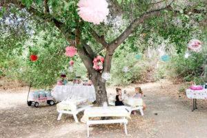Girly Woodland Glamping Party on Kara's Party Ideas   KarasPartyIdeas.com (15)