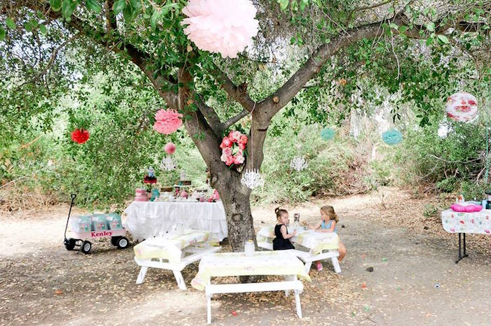 Girly Woodland Glamping Party on Kara's Party Ideas | KarasPartyIdeas.com (15)
