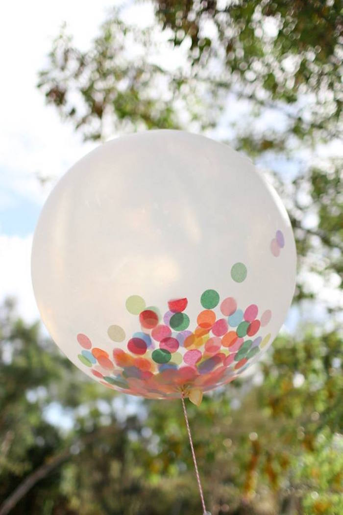 Confetti Balloon from a Girly Woodland Glamping Party on Kara's Party Ideas | KarasPartyIdeas.com (9)