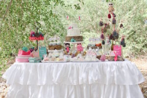 Glamping Dessert Table from a Girly Woodland Glamping Party on Kara's Party Ideas | KarasPartyIdeas.com (27)