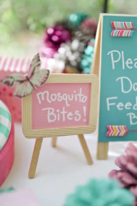 Pink Chalkboard Sign from a Girly Woodland Glamping Party on Kara's Party Ideas | KarasPartyIdeas.com (4)
