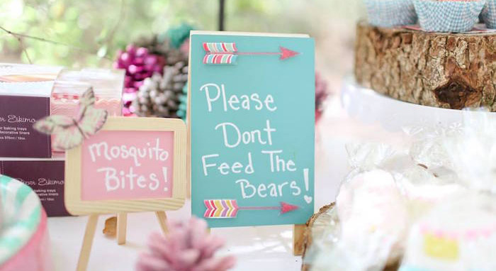 Girly Woodland Glamping Party on Kara's Party Ideas | KarasPartyIdeas.com (1)