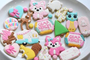 Glamping Sugar Cookies from a Girly Woodland Glamping Party on Kara's Party Ideas | KarasPartyIdeas.com (24)