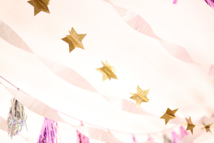 Bunting from a Glam Disco Birthday Party on Kara's Party Ideas | KarasPartyIdeas.com (14)