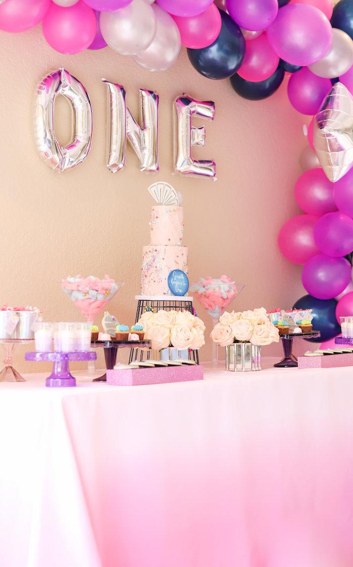 Glam Disco Birthday Party on Kara's Party Ideas | KarasPartyIdeas.com (9)