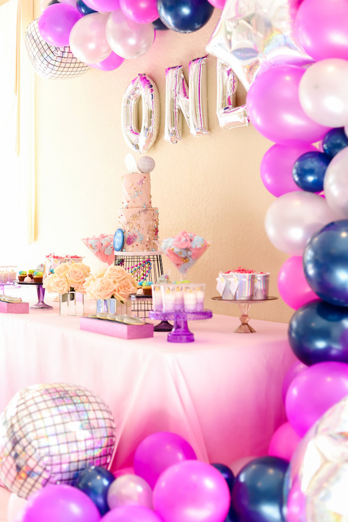 Disco Dessert Table from a Glam Disco Birthday Party on Kara's Party Ideas | KarasPartyIdeas.com (8)