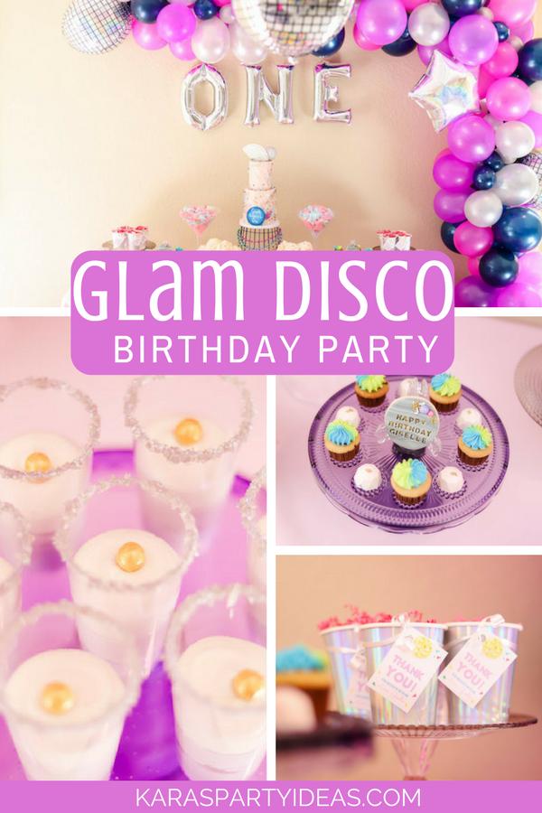 Glam Disco Birthday Party via Kara's Party Ideas - KarasPartyIdeas.com