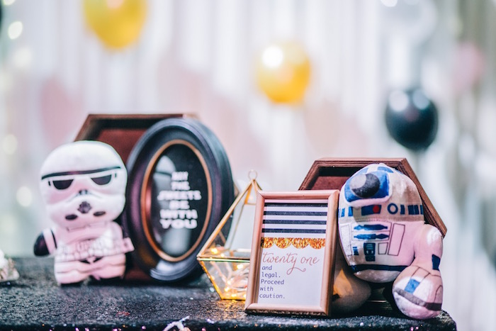 Star Wars Party Signage + Decor from a Glam Rock Star Wars Party on Kara's Party Ideas | KarasPartyIdeas.com (13)