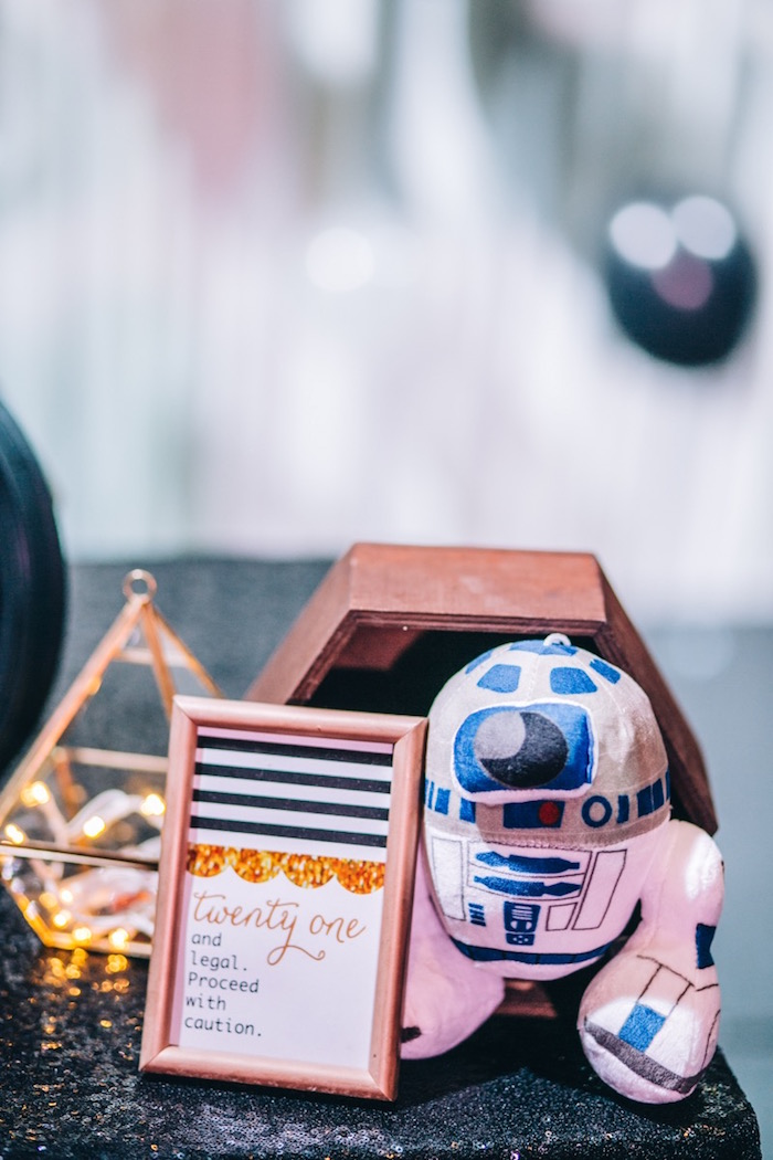 Star Wars Party Signage + Decor from a Glam Rock Star Wars Party on Kara's Party Ideas | KarasPartyIdeas.com (12)