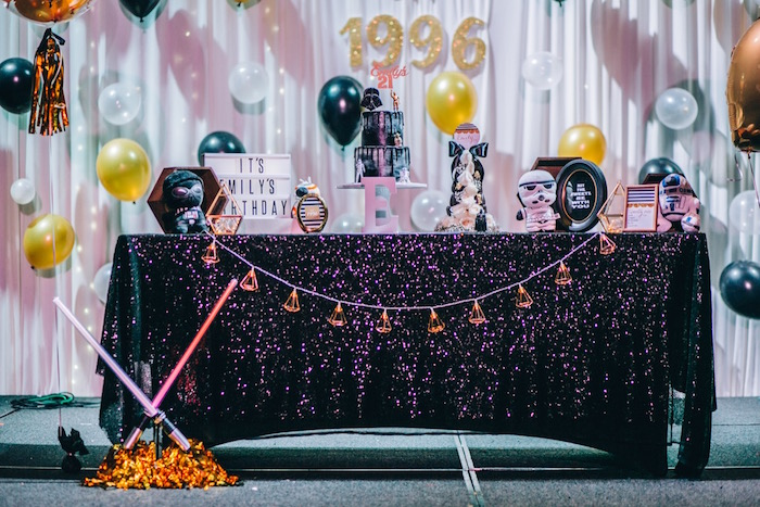 Star Wars Sweet Table from a Glam Rock Star Wars Party on Kara's Party Ideas | KarasPartyIdeas.com (8)