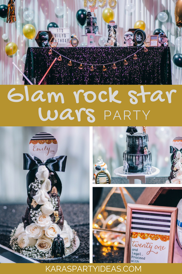 Glam Rock Star Wars Party via Kara's Party Ideas - KarasPartyIdeas.com