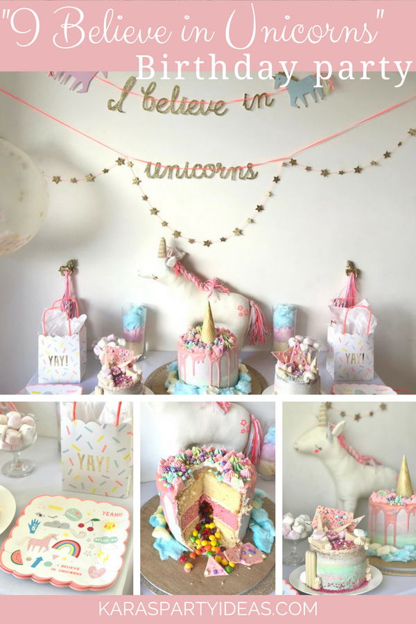 -I Believe In Unicorns- Birthday Party via Kara's Party Ideas - KarasPartyIdeas.com