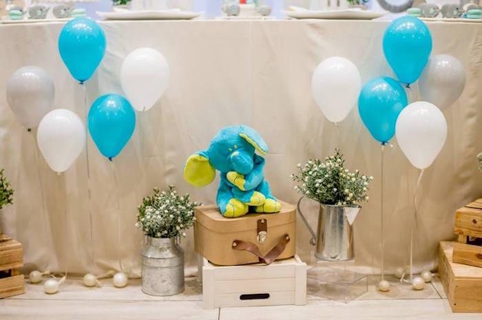 Dessert Table Decor from a Little Elephant Birthday Party on Kara's Party Ideas | KarasPartyIdeas.com (19)