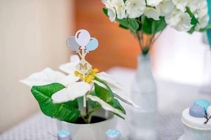 Plant with custom peg from a Little Elephant Birthday Party on Kara's Party Ideas | KarasPartyIdeas.com (12)