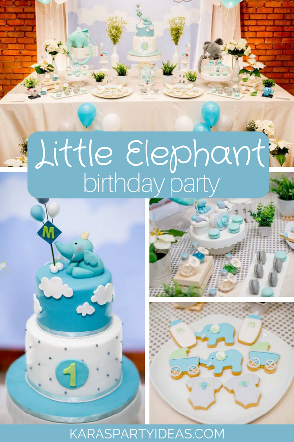 Little Elephant Birthday Party via Kara's Party Ideas - KarasPartyIdeas.com
