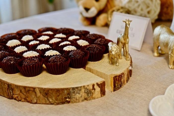 Brigadeiros from a Little Lion Birthday Party on Kara's Party Ideas | KarasPartyIdeas.com (16)