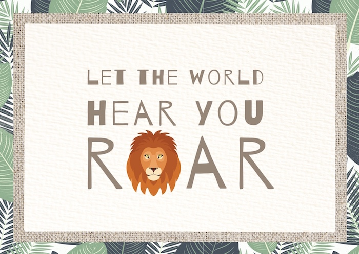 Let The World Hear You Roar Signage from a Little Lion Birthday Party on Kara's Party Ideas | KarasPartyIdeas.com (14)