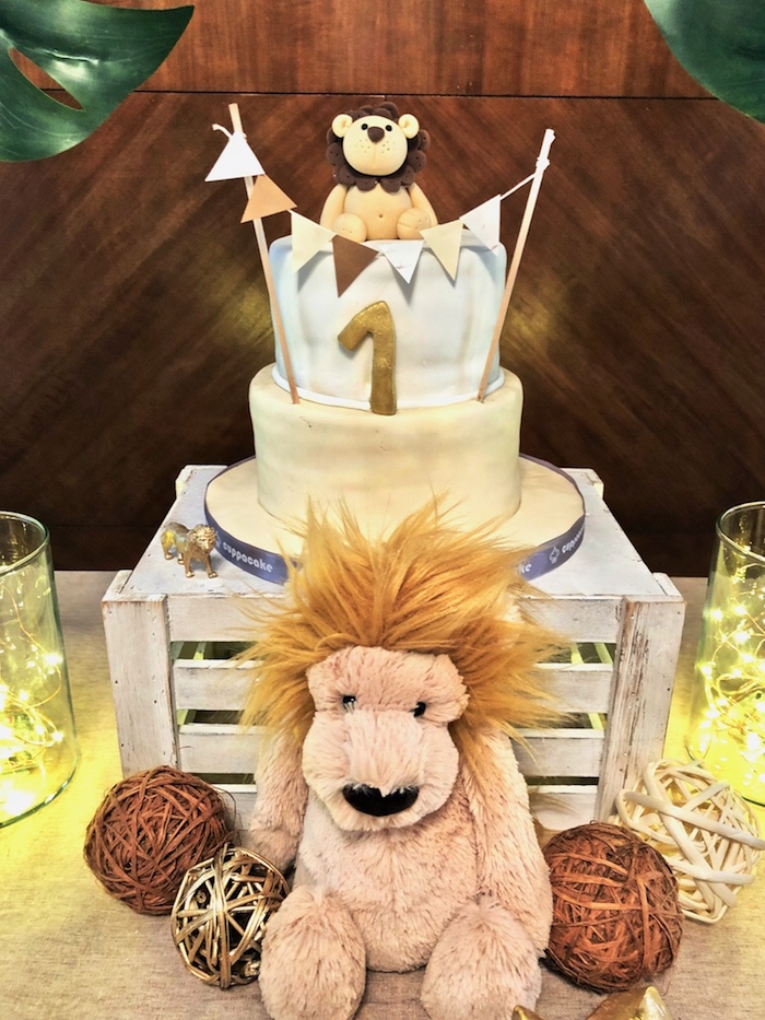 Little Lion Birthday Party on Kara's Party Ideas | KarasPartyIdeas.com (10)