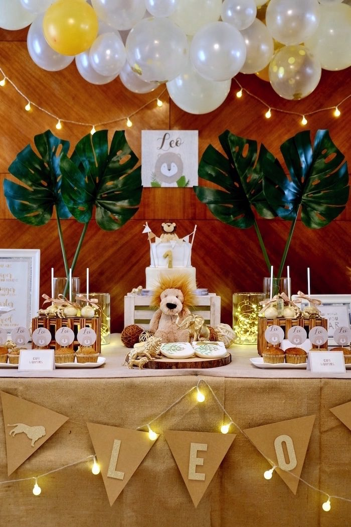 Dinner Birthday Party Ideas Part - 30: Little Lion Birthday Party On Karau0027s Party Ideas | KarasPartyIdeas.com (4)