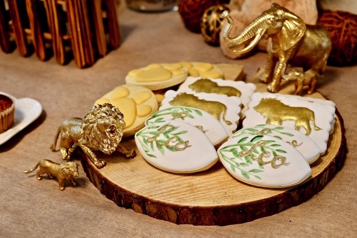 Lion Cookies from a Little Lion Birthday Party on Kara's Party Ideas | KarasPartyIdeas.com (29)