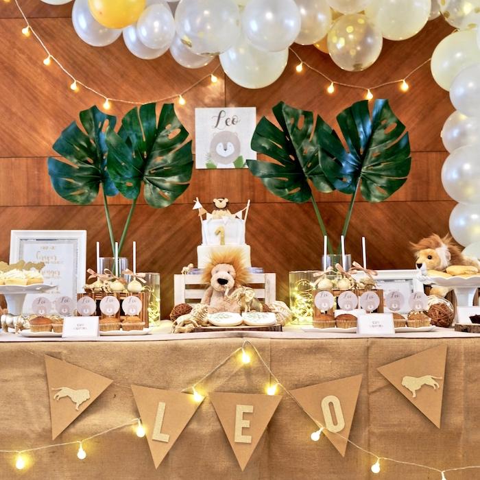 Little Lion Birthday Party on Kara's Party Ideas | KarasPartyIdeas.com (28)