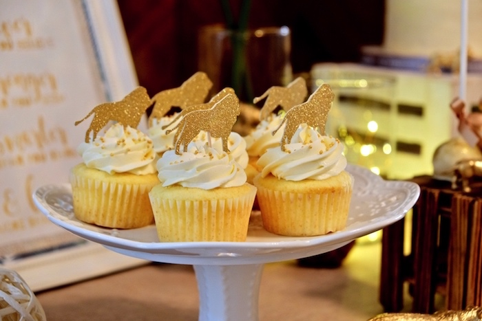Lion Cupcakes from a Little Lion Birthday Party on Kara's Party Ideas | KarasPartyIdeas.com (26)