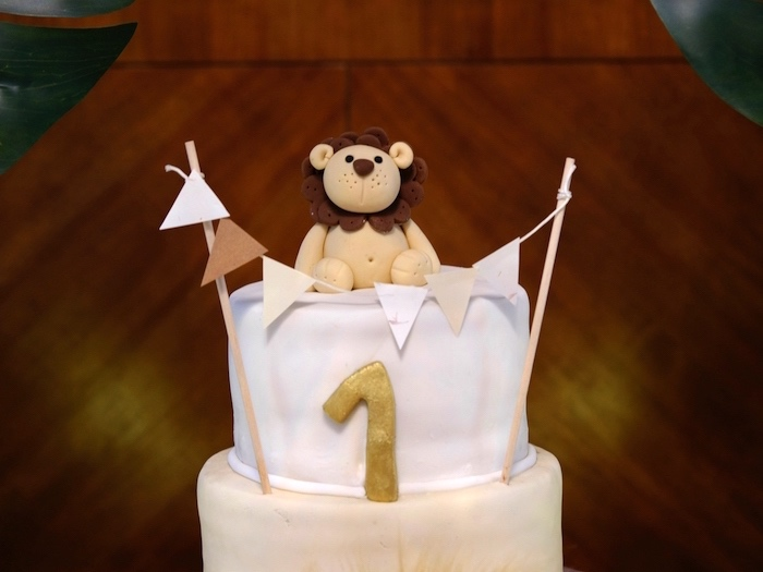 Lion Cake Topper from a Little Lion Birthday Party on Kara's Party Ideas | KarasPartyIdeas.com (23)