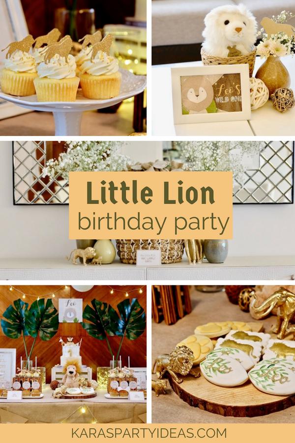 Little Lion Birthday Party via Kara's Party Ideas - KarasPartyIdeas.com