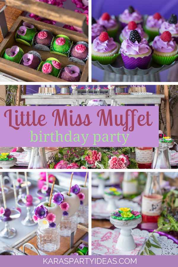 Little Miss Muffet Birthday Party via Kara's Party Ideas - KarasPartyIdeas.com