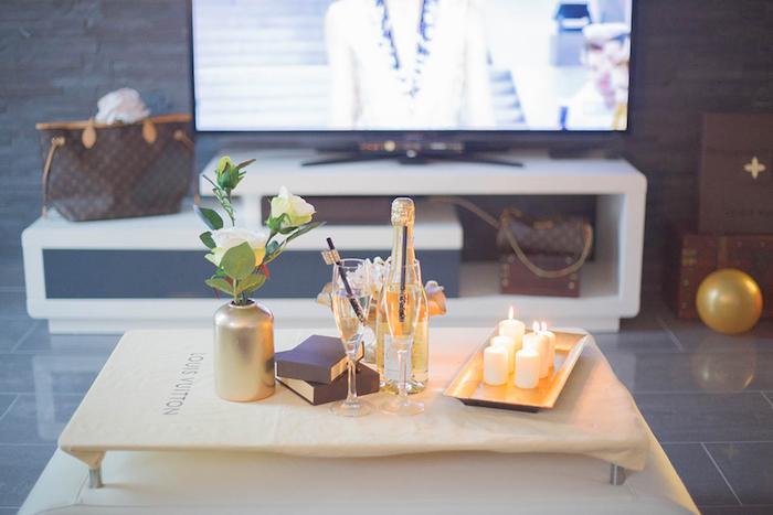 Decor from a Louis Vuitton Themed Party on Kara's Party Ideas | KarasPartyIdeas.com (18)